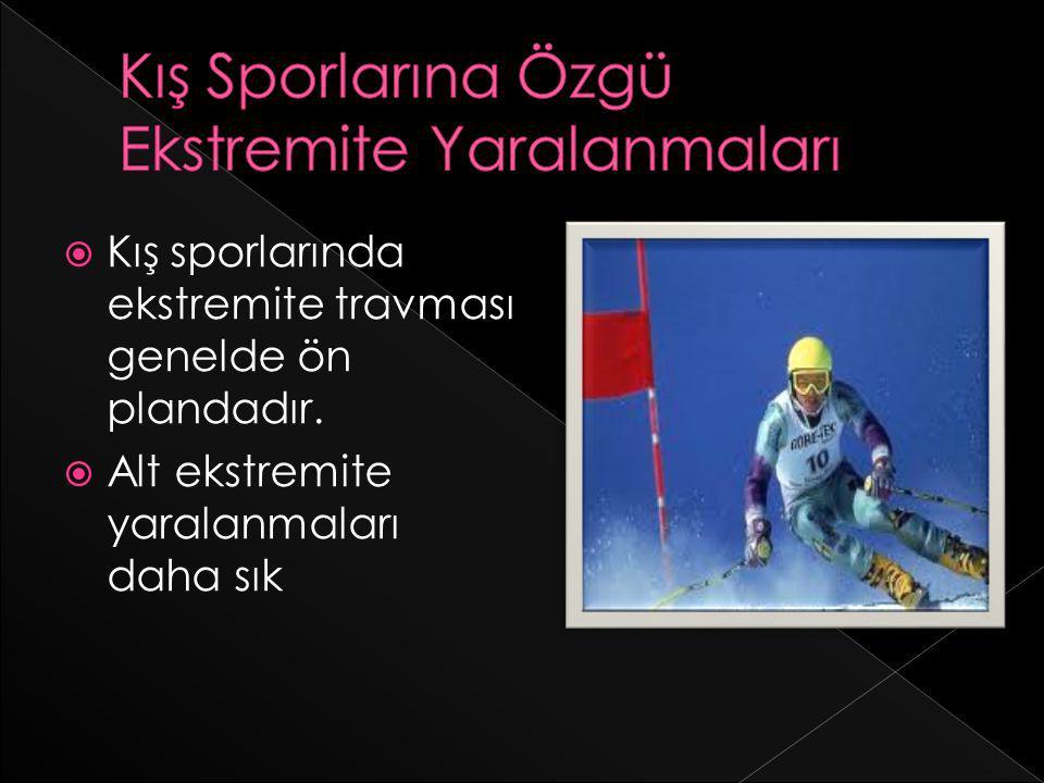 Kış Sporlarına Özgü Ekstremite Yaralanmaları
