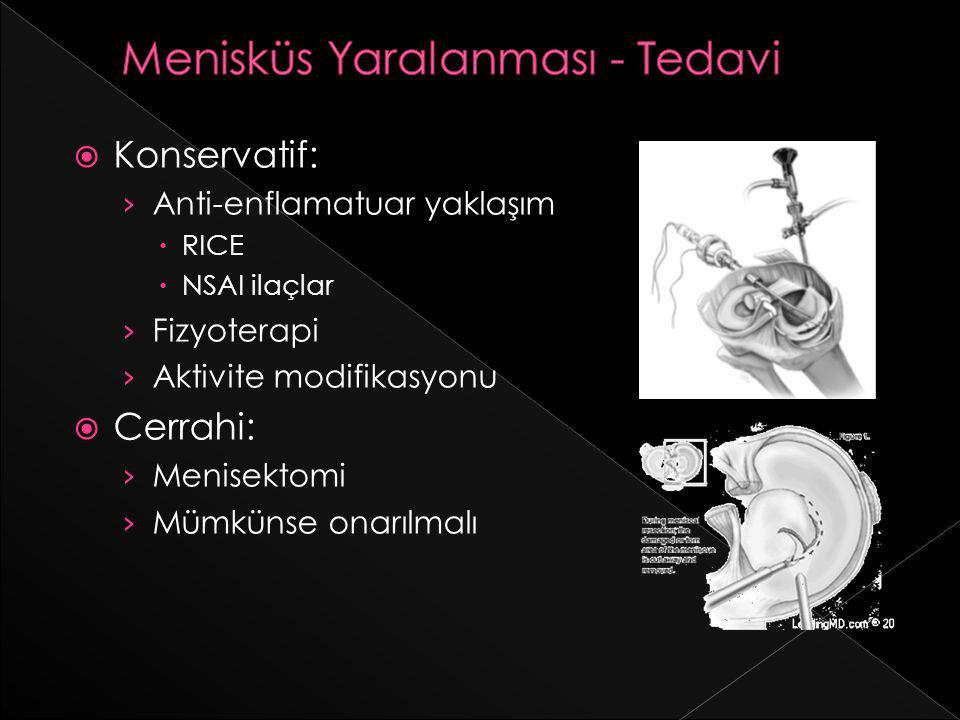 Menisküs Yaralanması - Tedavi