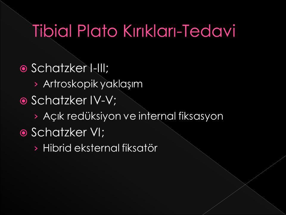 Tibial Plato Kırıkları-Tedavi