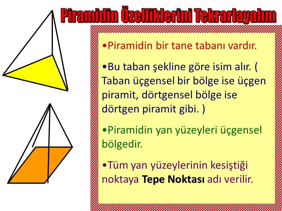 Piramidin Özelliklerini Tekrarlayalım