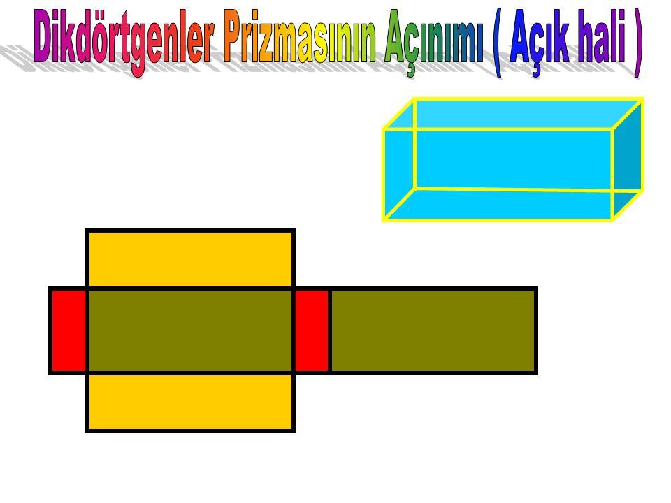 Dikdörtgenler Prizmasının Açınımı ( Açık hali )