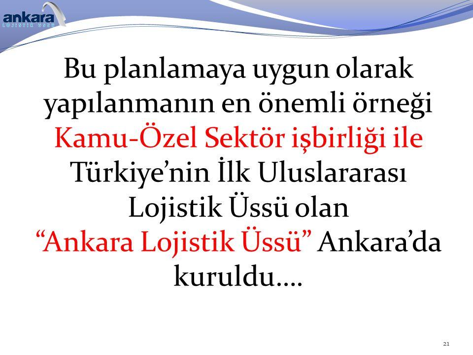 Ankara Lojistik Üssü Ankara'da kuruldu….