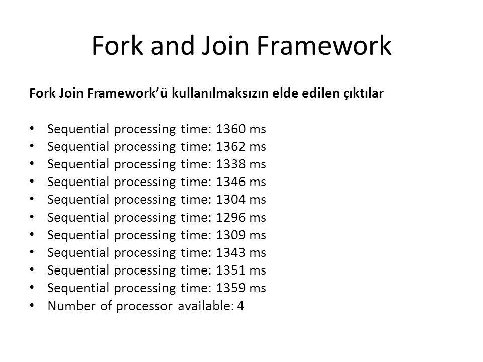Fork and Join Framework