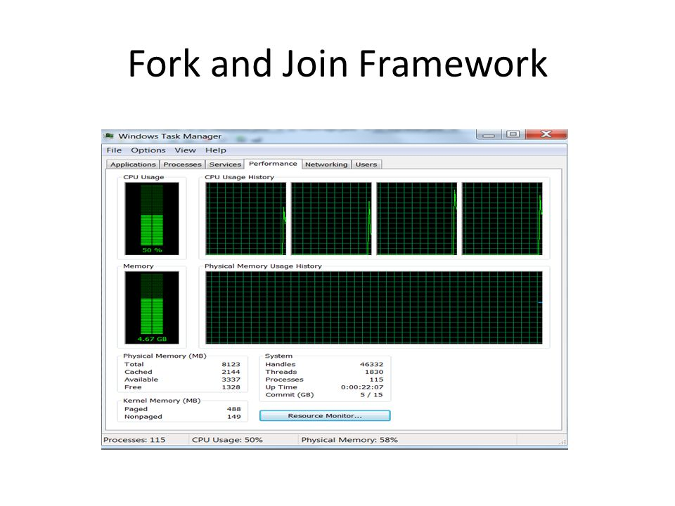 Fork and Join Framework