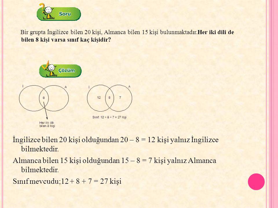 Sınıf mevcudu;12 + 8 + 7 = 27 kişi