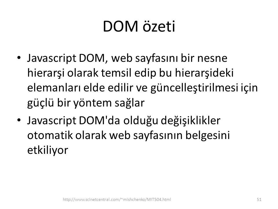 DOM özeti