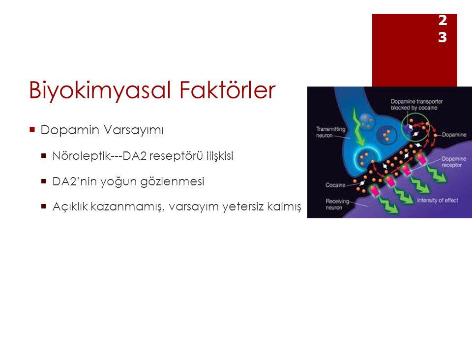 Biyokimyasal Faktörler