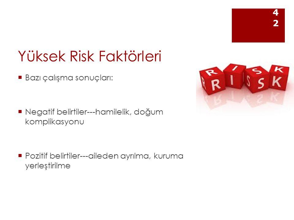 Yüksek Risk Faktörleri
