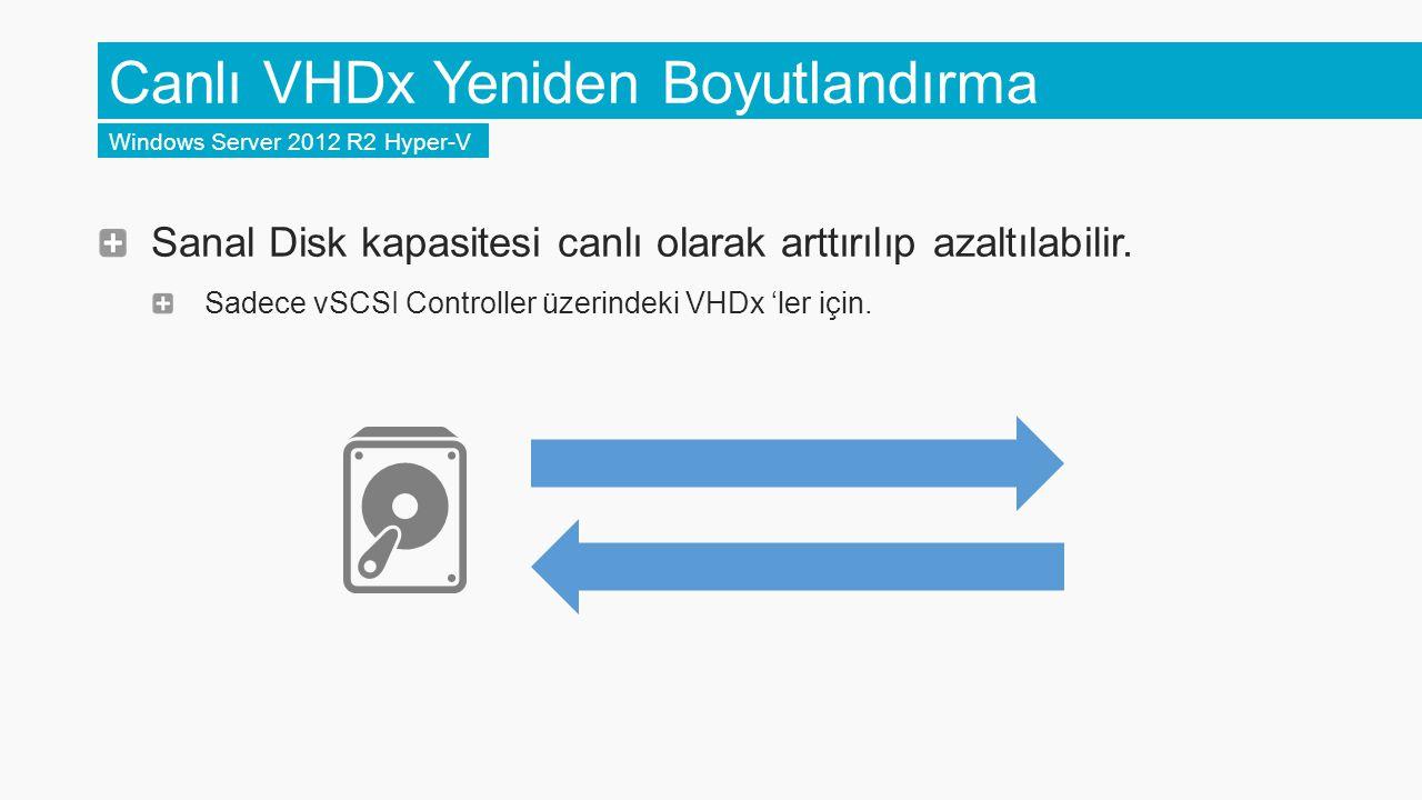 Canlı VHDx Yeniden Boyutlandırma