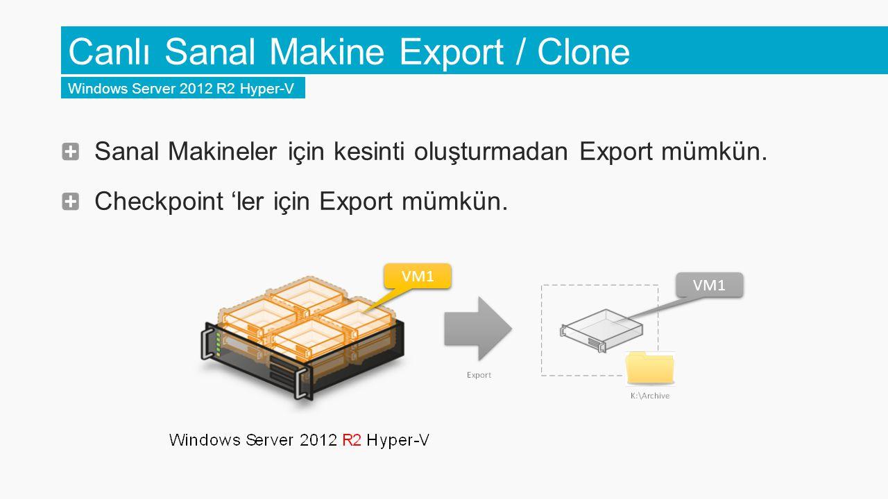 Canlı Sanal Makine Export / Clone