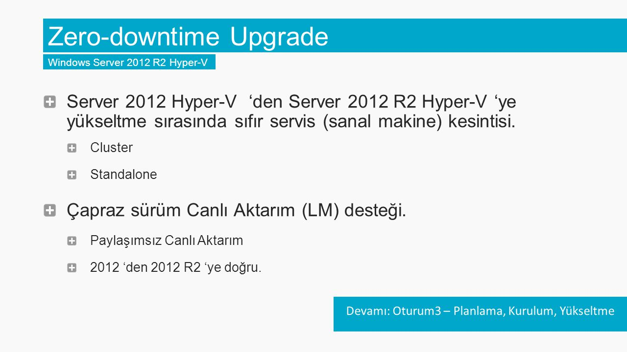 Zero-downtime Upgrade