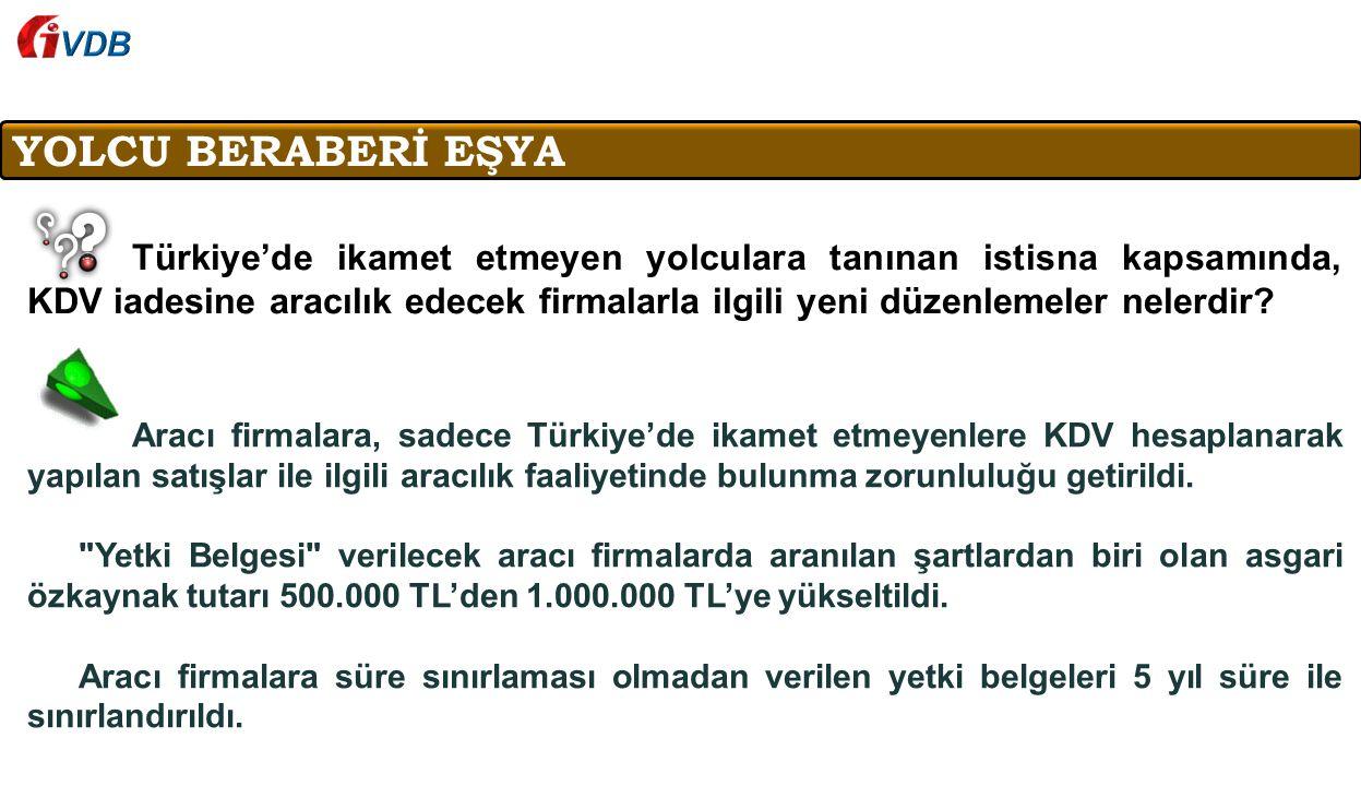 VDB YOLCU BERABERİ EŞYA.