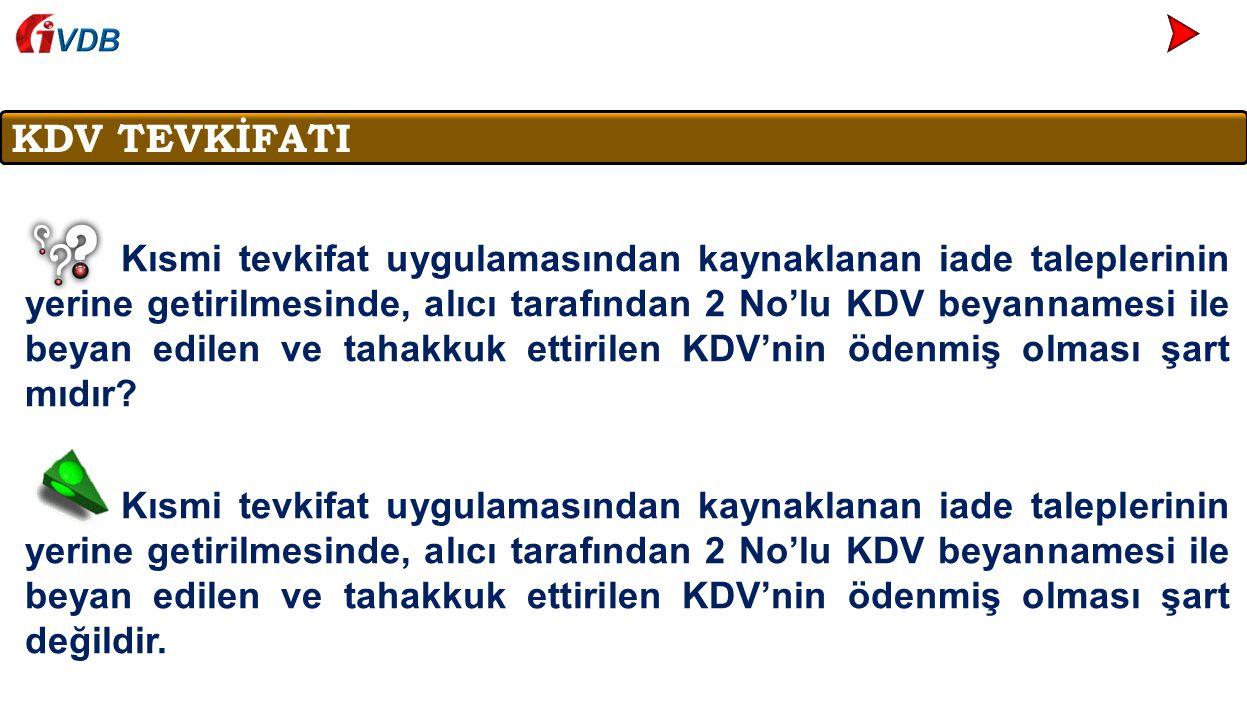 VDB KDV TEVKİFATI.