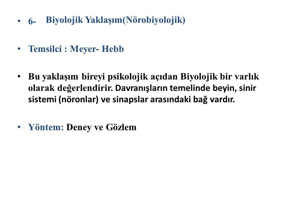 6- Temsilci : Meyer- Hebb.