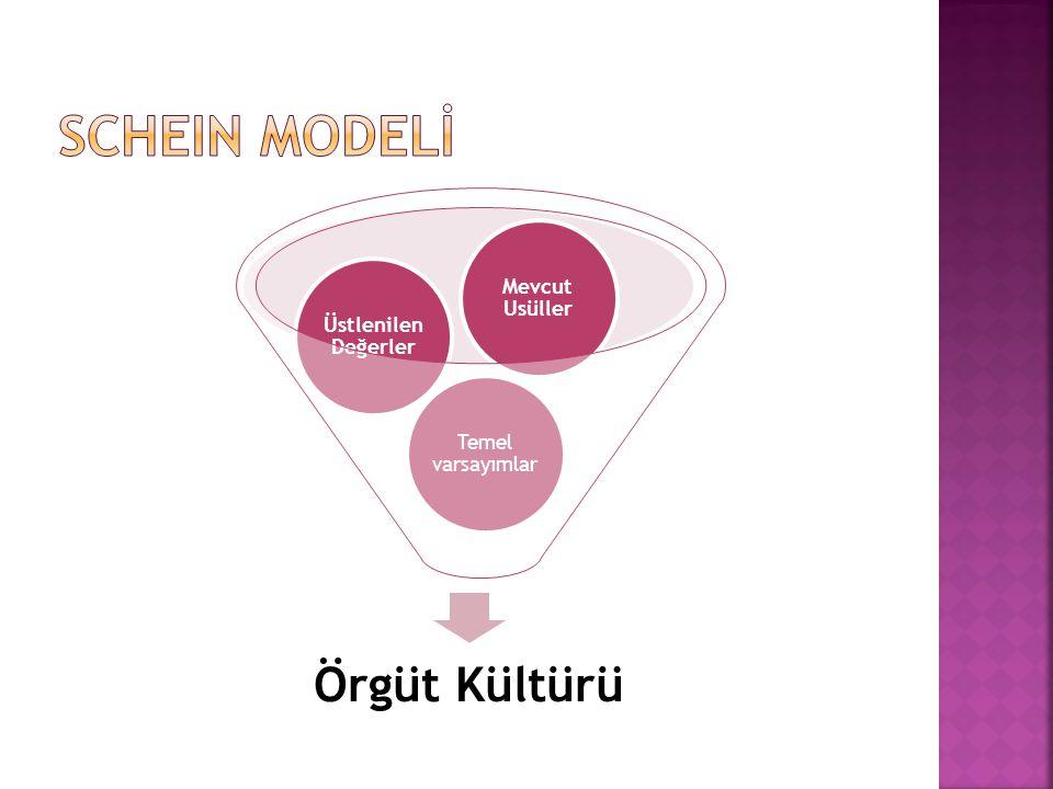 SCHEIN MODELİ Örgüt Kültürü Mevcut Usüller Üstlenilen Değerler