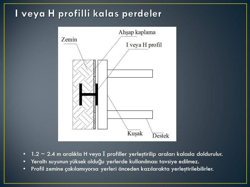 I veya H profilli kalas perdeler