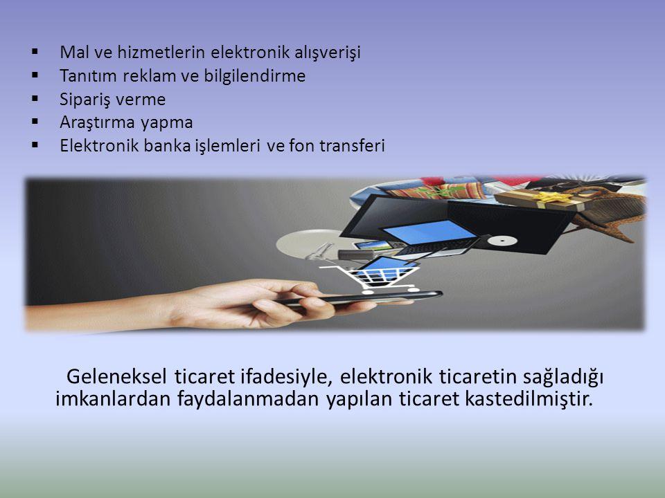 Mal ve hizmetlerin elektronik alışverişi