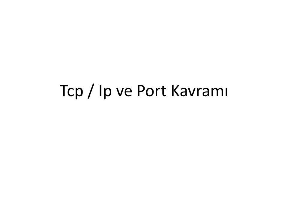 Tcp / Ip ve Port Kavramı