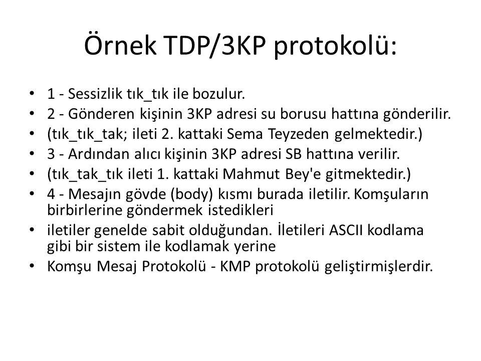 Örnek TDP/3KP protokolü: