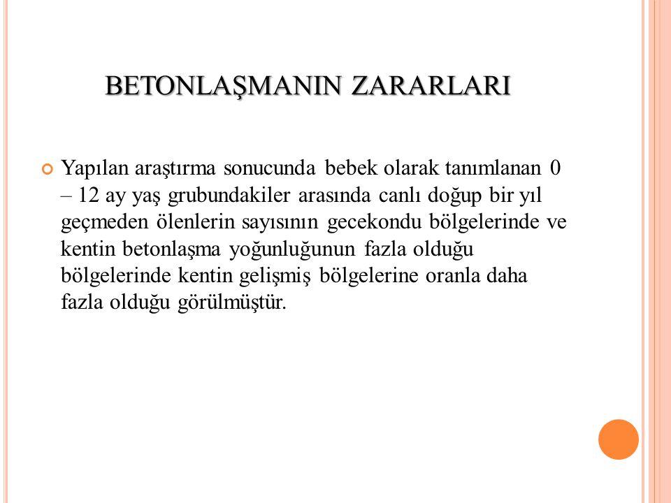 BETONLAŞMANIN ZARARLARI