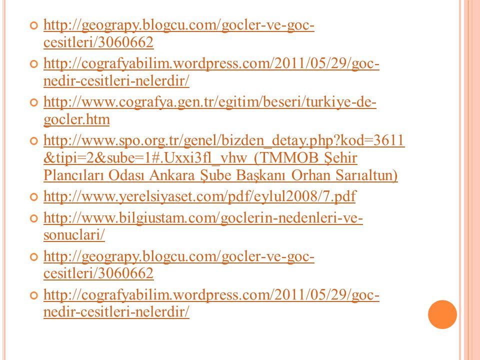 http://geograpy.blogcu.com/gocler-ve-goc- cesitleri/3060662