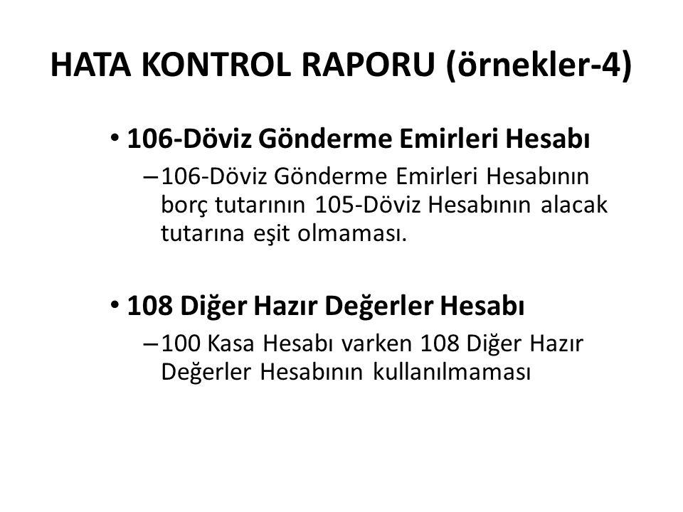 HATA KONTROL RAPORU (örnekler-4)
