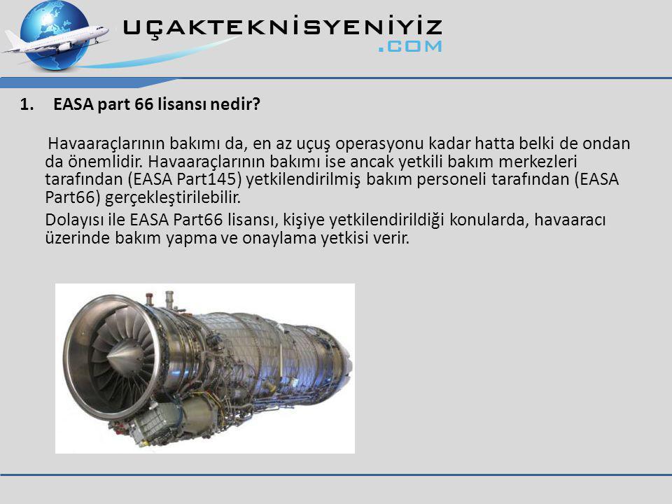 EASA part 66 lisansı nedir