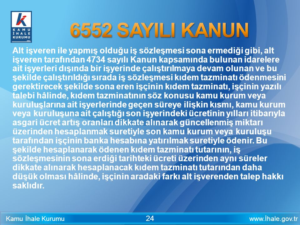 6552 SAYILI KANUN