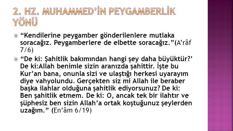 2. Hz. Muhammed'İn Peygamberlİk Yönü