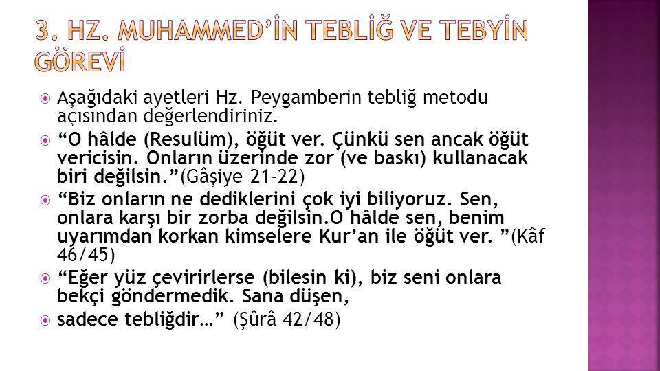3. Hz. Muhammed'İn Teblİğ ve Tebyİn Görevİ