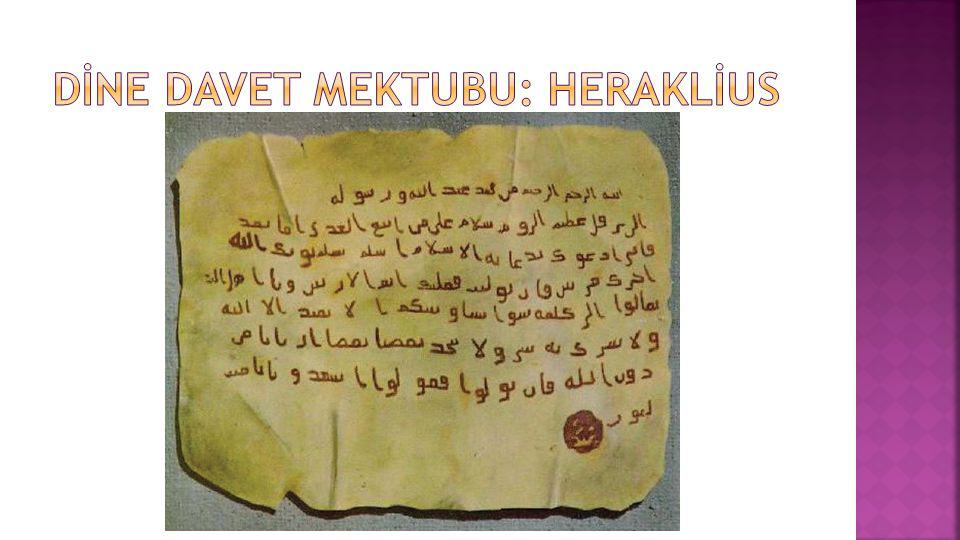 Dİne davet mektubu: heraklİus