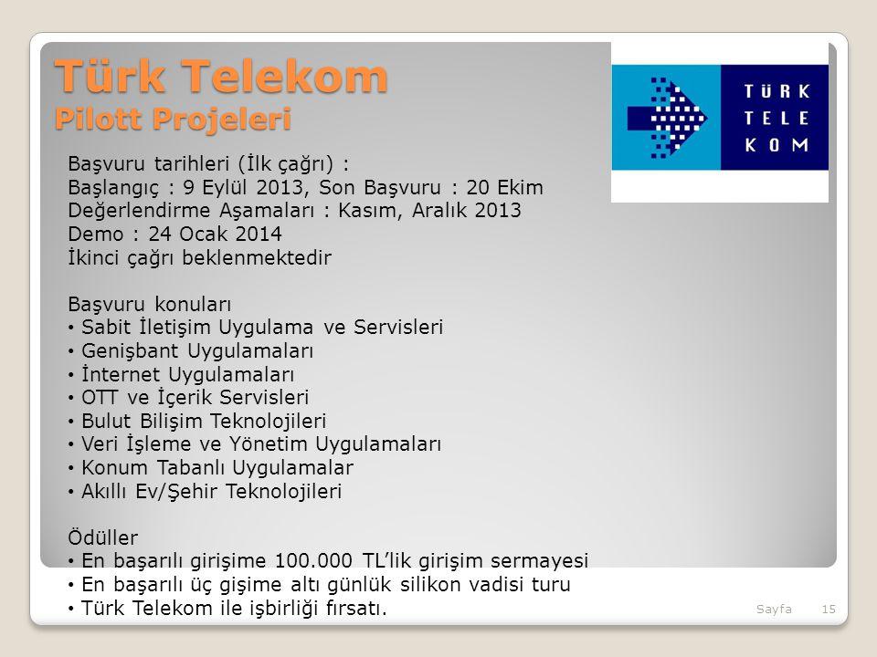 Türk Telekom Pilott Projeleri