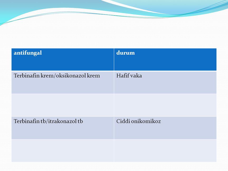 antifungal durum. Terbinafin krem/oksikonazol krem.