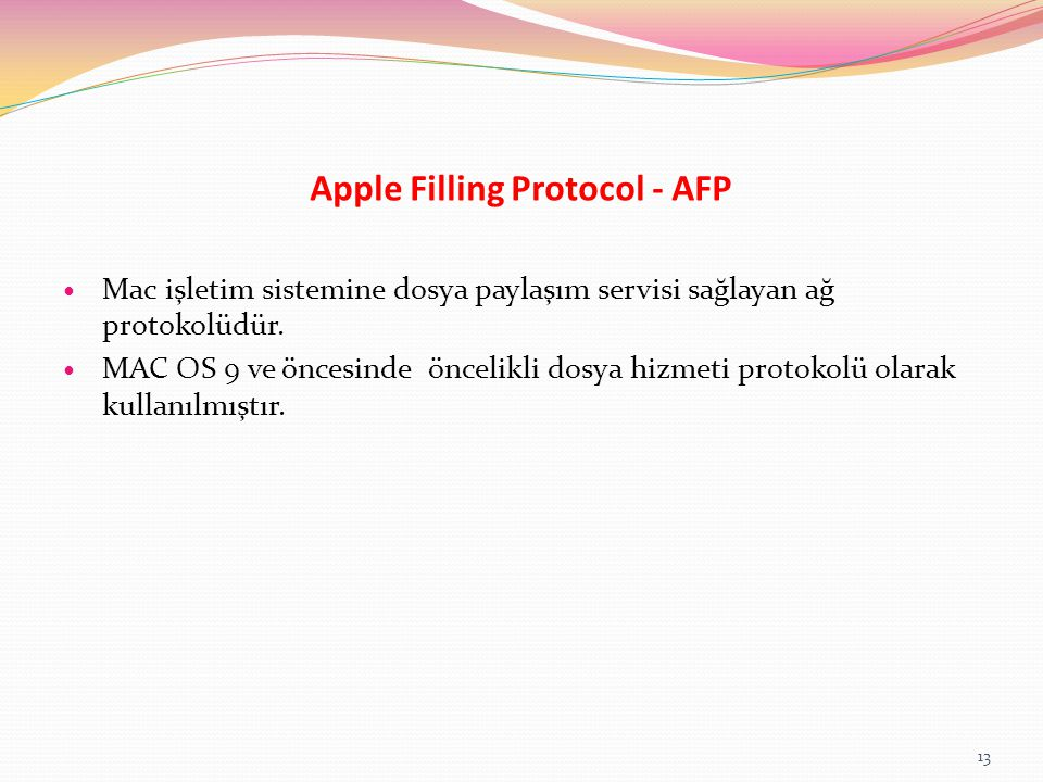 Apple Filling Protocol - AFP