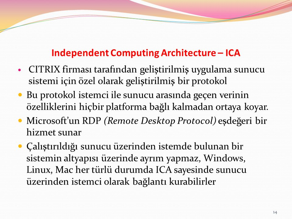Independent Computing Architecture – ICA