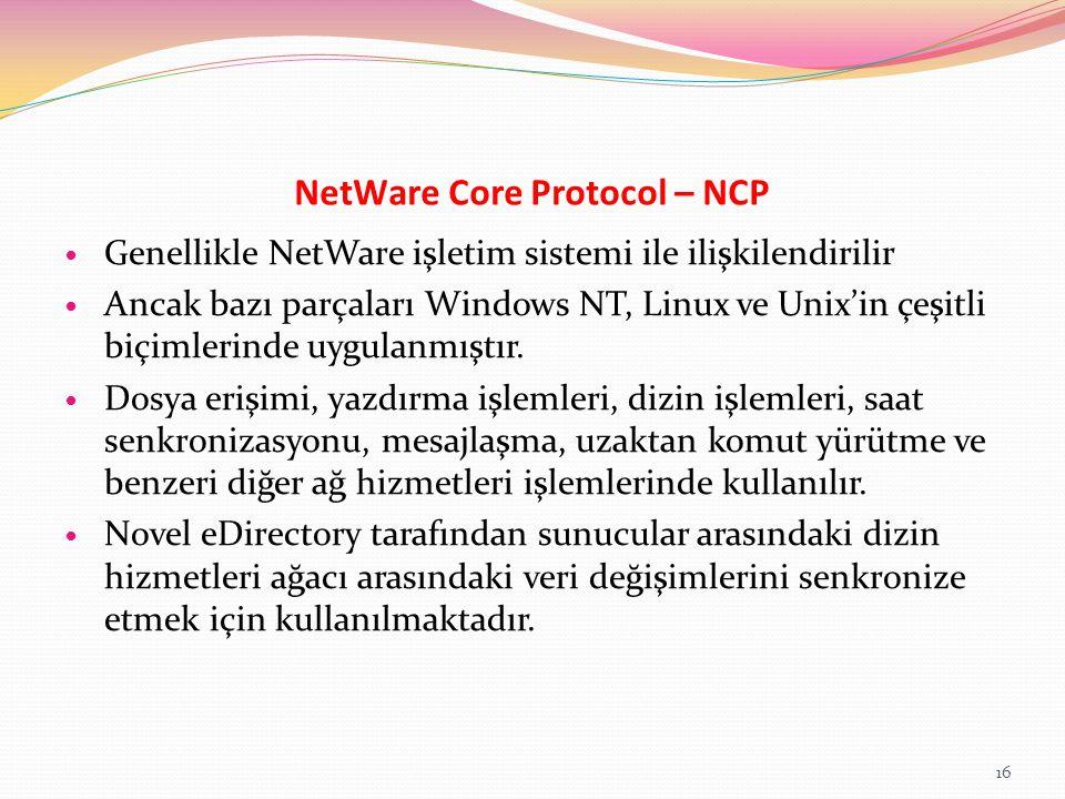 NetWare Core Protocol – NCP
