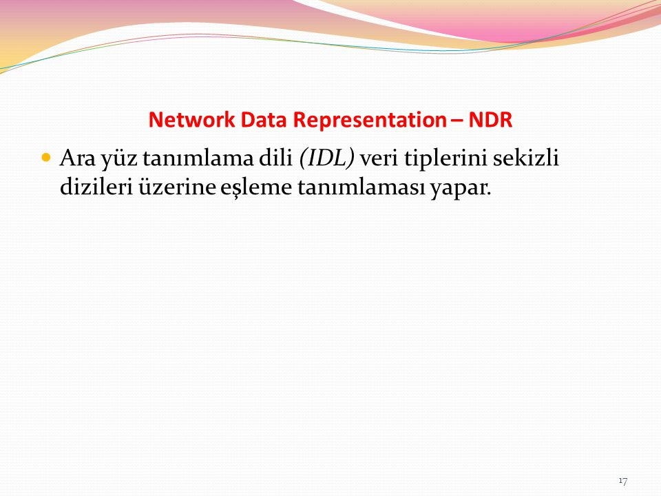 Network Data Representation – NDR