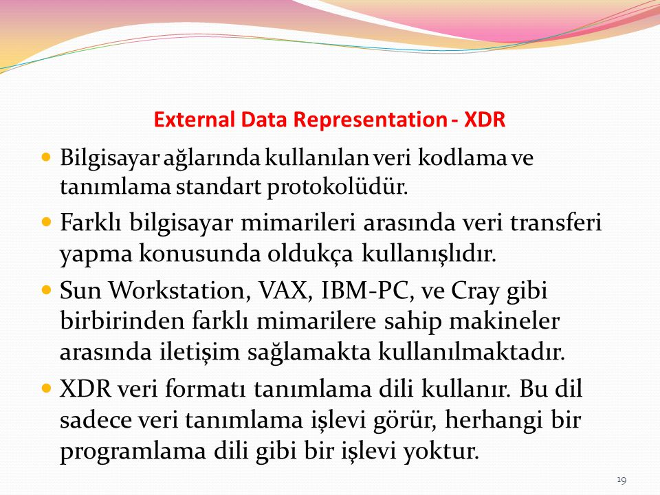 External Data Representation - XDR