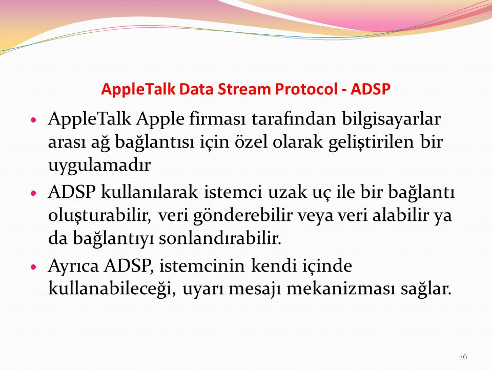 AppleTalk Data Stream Protocol - ADSP