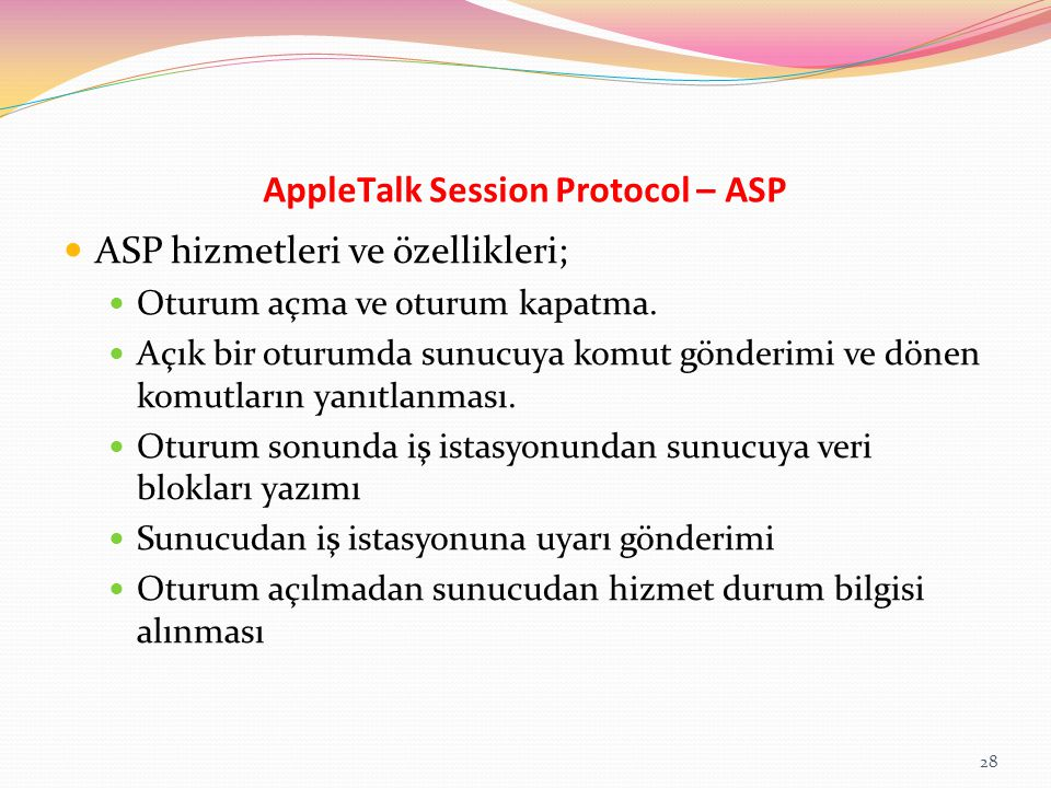AppleTalk Session Protocol – ASP