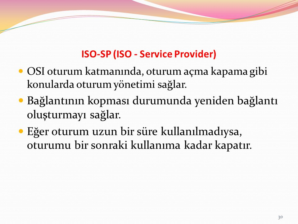 ISO-SP (ISO - Service Provider)