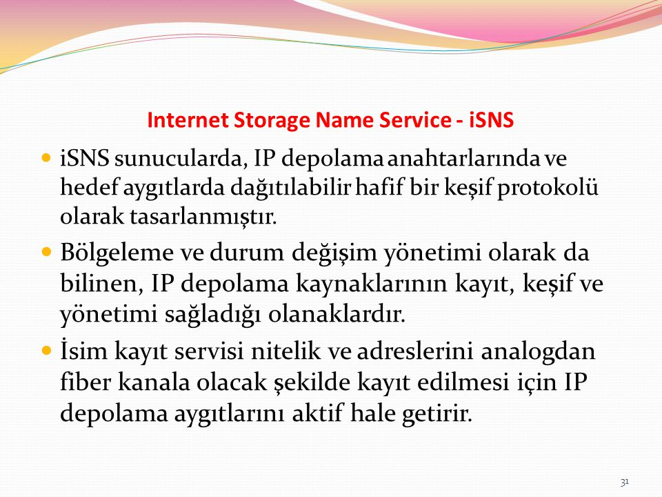 Internet Storage Name Service - iSNS