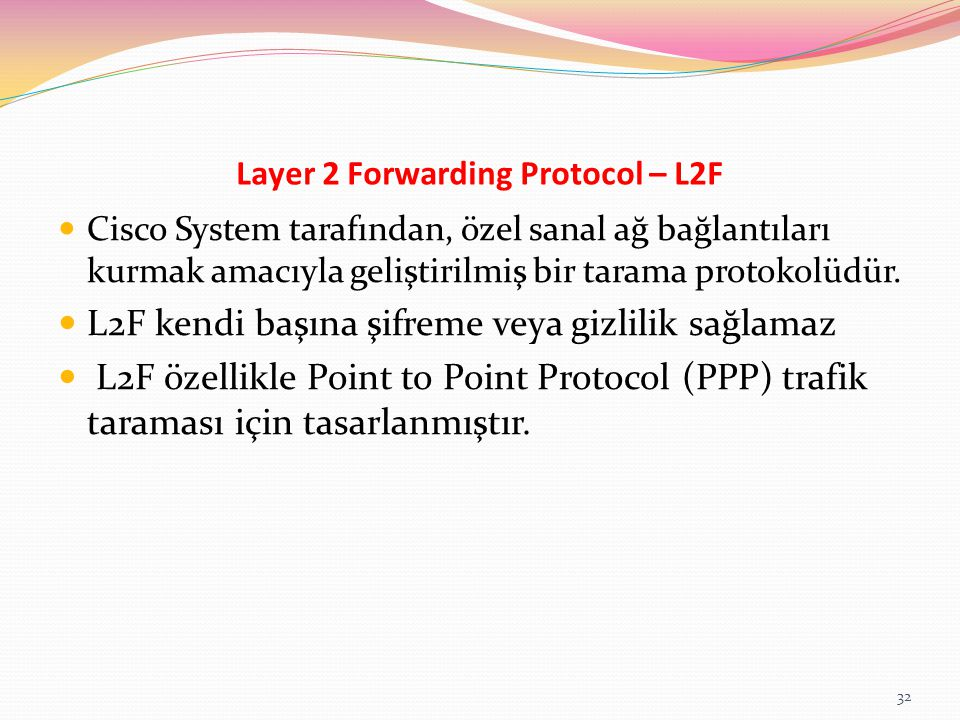 Layer 2 Forwarding Protocol – L2F