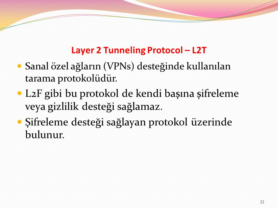 Layer 2 Tunneling Protocol – L2T