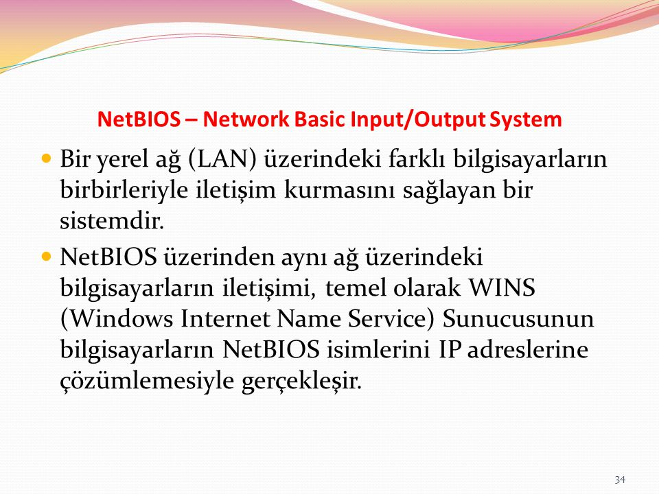 NetBIOS – Network Basic Input/Output System