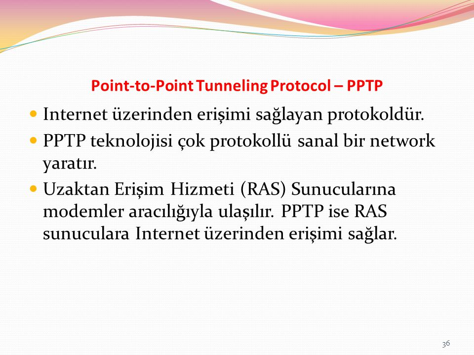 Point-to-Point Tunneling Protocol – PPTP