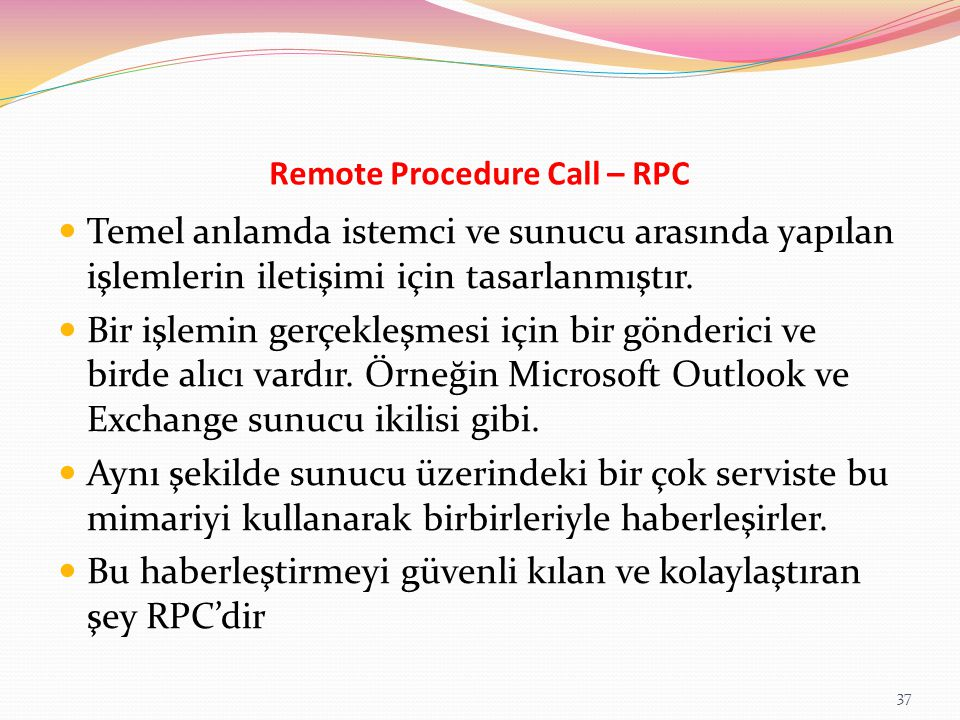Remote Procedure Call – RPC