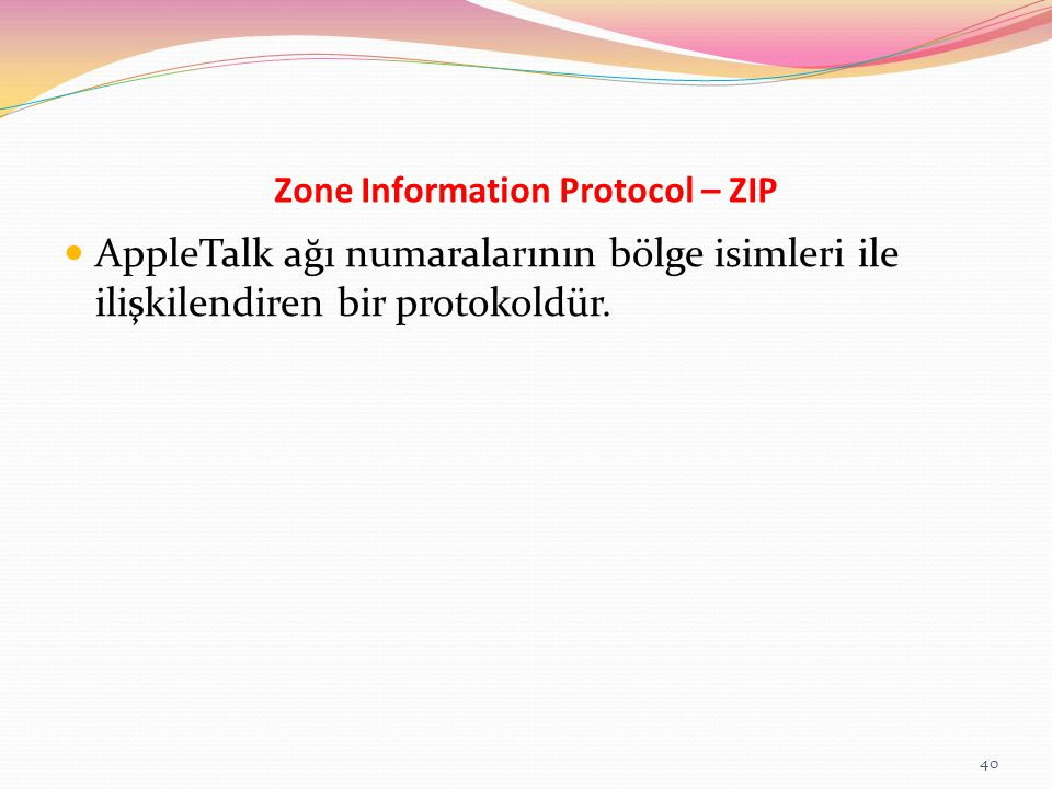 Zone Information Protocol – ZIP