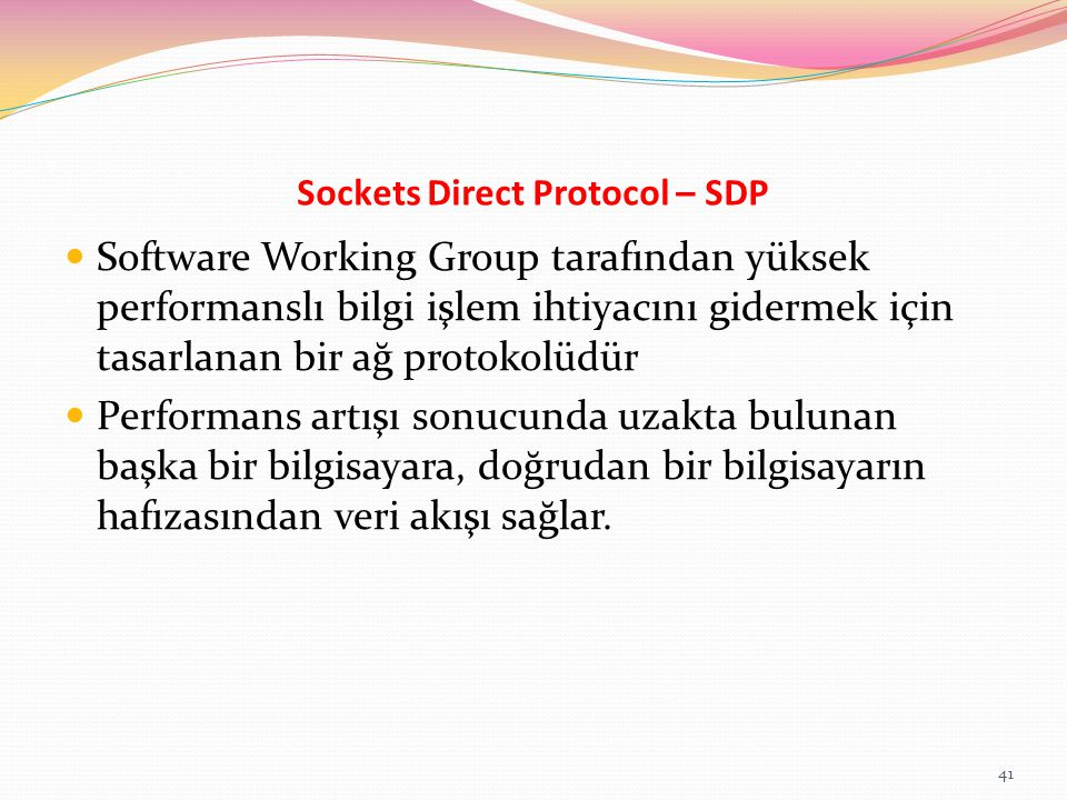 Sockets Direct Protocol – SDP