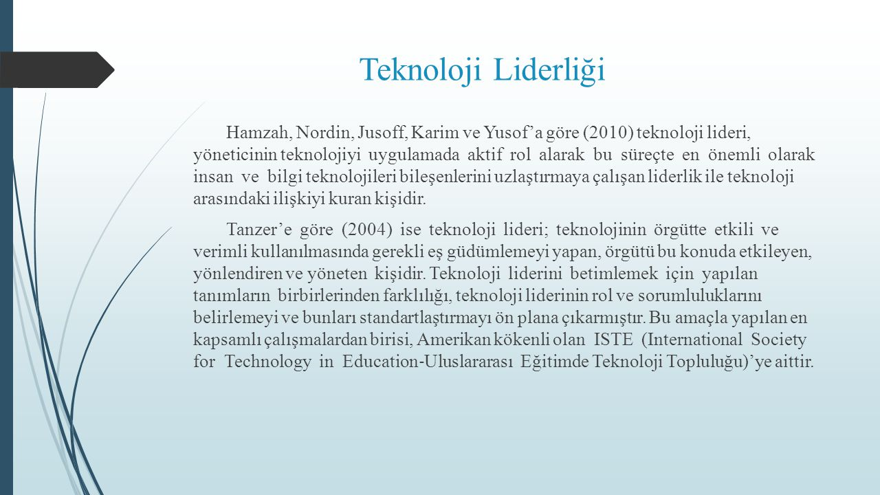 Teknoloji Liderliği
